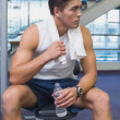 Fit man taking a break from working out — Stock Photo #56905673