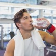 Fit man taking a break from working out — Stock Photo #56908767