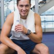 Fit man taking a break from working out — Stock Photo #56909839