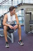 Fit man taking a break from working out — Foto Stock