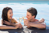 Couple toasting champagne — Stock Photo