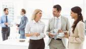 Work team during break time in office — Stock Photo