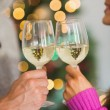 Happy couple enjoying some wine — Stock Photo #56910803