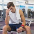 Fit man taking a break from working out — Stock Photo #56911053
