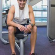 Fit man taking a break from working out — Stock Photo #56911673
