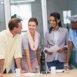 Colleagues in discussion at office — Stock Photo #56912971