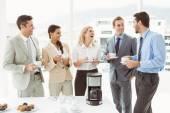 Work team during break time — Stock Photo