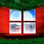 Santa delivers presents — Stock Photo #57149233