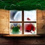 Santa delivers presents — Stock Photo #57149263