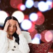 Composite image of woman suffering from a migraine — Stock Photo #57149927