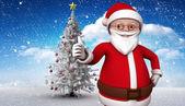 Composite image of cute cartoon santa claus — Stockfoto