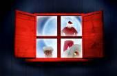 Dostawy Santa prezentuje — Zdjęcie stockowe