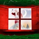 Santa delivers presents — Stock Photo #57156135