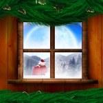 Santa delivers presents — Stock Photo #57156643