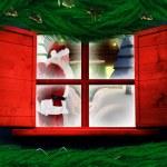 Santa delivers presents — Stock Photo #57158985