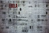 Composite image of ebola word cluster — Foto Stock