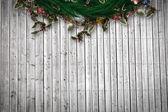 Composite image of festive christmas wreath — Stock Photo
