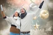 Young winter couple — Stock Photo