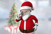 Мультфильм Санта Клаус — Стоковое фото