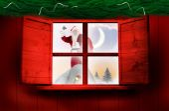 Санта доставляет подарки — Стоковое фото