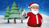 Composite image of cute cartoon santa claus — Stock fotografie