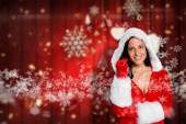 Woman wearing sexy christmas clothes — Stock Photo