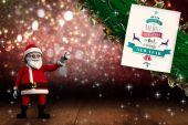 Composite image of cute cartoon santa claus — Stock Photo