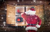 Composite image of santa claus — Fotografia Stock
