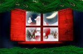 Santa delivers presents — Stock Photo