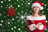 Pretty girl in santa outfit — 图库照片
