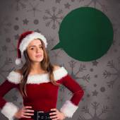 Santa girl smiling at camera — Photo