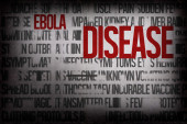 Digitally generated ebola word cluster — Stockfoto