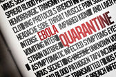 Digitally generated ebola word cluster — Stock Photo