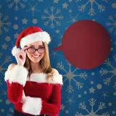 Santa girl wearing spectacles — Stock Photo