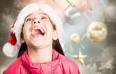 Image composite de fête petite fille regardant surpris — Photo