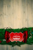 Fir branch christmas decoration garland — Stockfoto