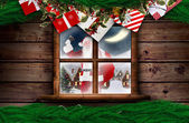 Santa přináší dárky — Stock fotografie
