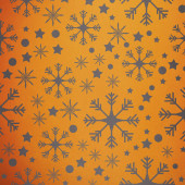 Snowflake pattern against yellow vignette — Stock Photo