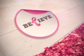 Composite image of breast cancer awareness message — Stock Photo