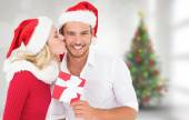 Young festive couple — Stock Photo