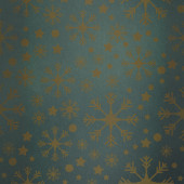 Snowflake pattern against green vignette — Stock Photo