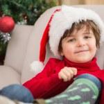 Festive little boy smiling at camera — Stock Photo #57251161