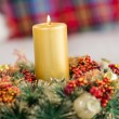 Close up of wreath with candles — Stock Photo #57252063