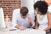 Two photo editors at work — Stock Photo