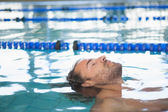 Fit swimmer in the pool — Стоковое фото