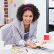 Female interior designer at office desk — Foto de Stock   #57262593