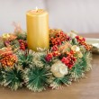 Close up of wreath with candles — Stock Photo #57264433