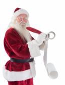 Father Christmas writes a list — Stock Photo