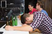 Young man after drinking too much — Stock Photo