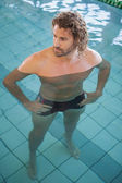 Fit swimmer in the pool — Foto Stock